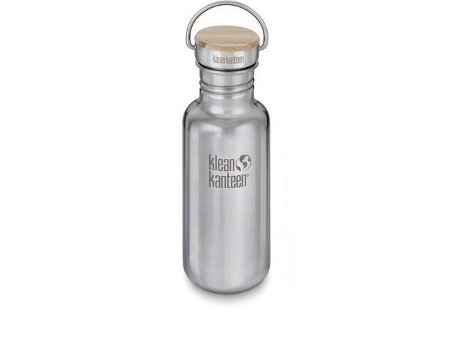 Klean Kanteen Reflect Gourde Couvercle en bambou 532ml, mirrored stainless